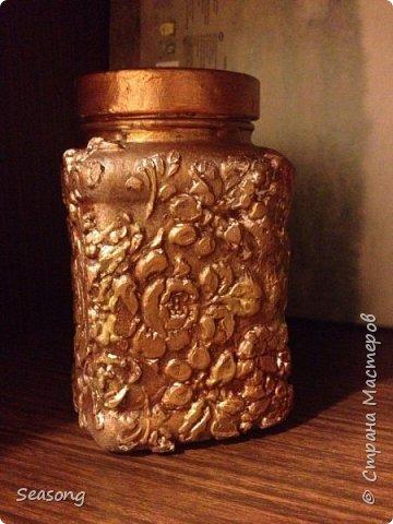 Текстурная баночка (лепка текстурной пастой) фото 3