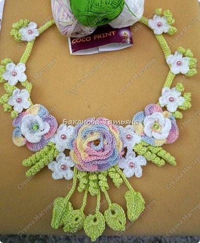 Цветочное ожерелье по мотивам Сильвии Грамани фото 2