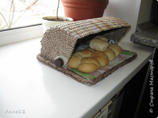 Решила сплести вот такую хлебницу. Рассказывать не умею, просто смотрите :)) фото 3