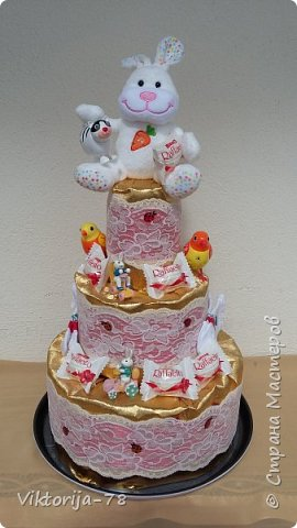 Всем большой привет! Вот ещё один тортик. На рождение племянницы. Надеюсь , что понравиться.))