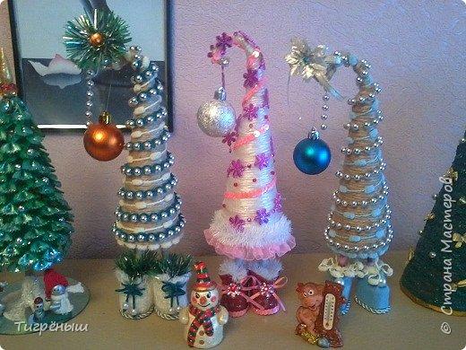 Вечер добрый всем . Мои первые новогодние ёлочки в разгар весны )) Делала в январе их фото 1