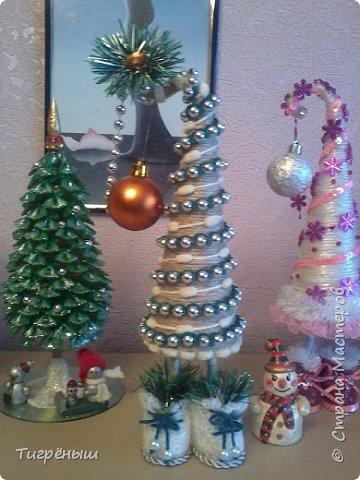 Вечер добрый всем . Мои первые новогодние ёлочки в разгар весны )) Делала в январе их фото 6