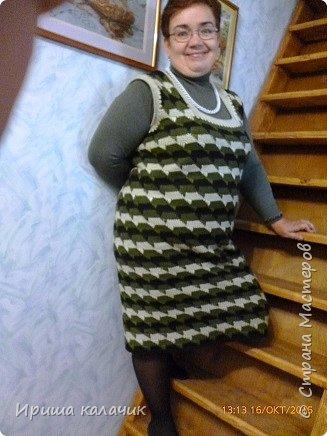 здравствуйте, дорогие мастерицы! ещё осенью связался у меня тёплый сарафан, вязала из Семёновской Каролины в 2 нитки, идея от сюда  http://www.liveinternet.ru/users/irisha_kalachik/post348568101/ ,может кому пригодится, буду рада! фото 1