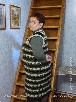здравствуйте, дорогие мастерицы! ещё осенью связался у меня тёплый сарафан, вязала из Семёновской Каролины в 2 нитки, идея от сюда  http://www.liveinternet.ru/users/irisha_kalachik/post348568101/ ,может кому пригодится, буду рада! фото 3