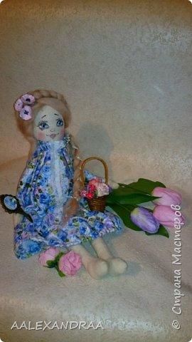 Добрый вечер Всем!!! Представляю вашему вниманию,ещё одну куколку с рисованным личиком.  фото 2