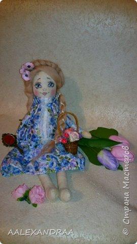 Добрый вечер Всем!!! Представляю вашему вниманию,ещё одну куколку с рисованным личиком.  фото 1
