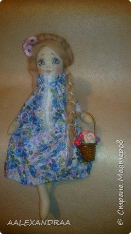 Добрый вечер Всем!!! Представляю вашему вниманию,ещё одну куколку с рисованным личиком.  фото 3