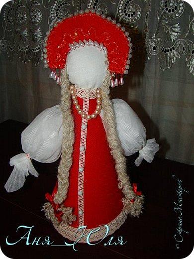 """Всем привет! Был у нас в школе проект по технологии """"Кукольный хоровод"""". Надо было сделать кукол в народных костюмах, и чтобы все были разные. Вот что у нас получилось. фото 5"""