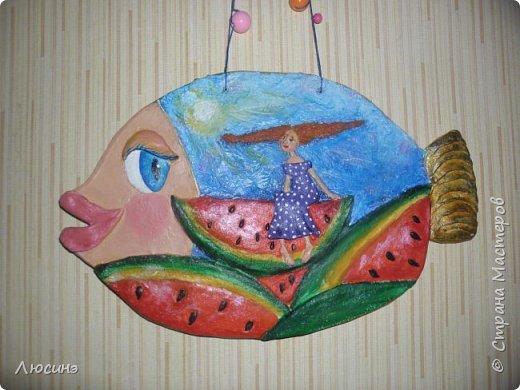Мультяшная рыбка по картине Виктории Кирдий