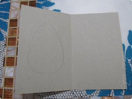 Всем добрый день!!!! У нас полным ходом идёт подготовка к Пасхе. Хотим  показать вам , как мы делаем пасхальные открыточки. фото 3
