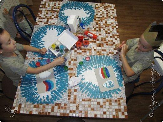 Всем добрый день!!!! У нас полным ходом идёт подготовка к Пасхе. Хотим  показать вам , как мы делаем пасхальные открыточки. фото 5