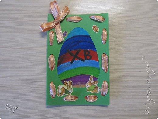 Всем добрый день!!!! У нас полным ходом идёт подготовка к Пасхе. Хотим  показать вам , как мы делаем пасхальные открыточки. фото 9