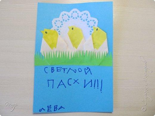 Всем добрый день!!!! У нас полным ходом идёт подготовка к Пасхе. Хотим  показать вам , как мы делаем пасхальные открыточки. фото 14