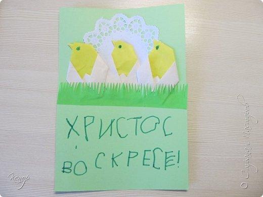 Всем добрый день!!!! У нас полным ходом идёт подготовка к Пасхе. Хотим  показать вам , как мы делаем пасхальные открыточки. фото 15