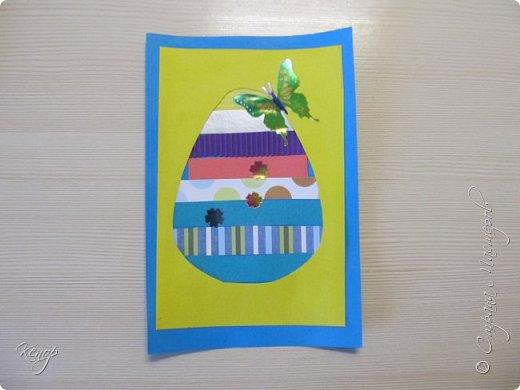 Всем добрый день!!!! У нас полным ходом идёт подготовка к Пасхе. Хотим  показать вам , как мы делаем пасхальные открыточки. фото 12