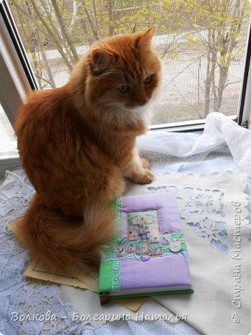 Всем привет!!! Ну всё:)...пока у меня передышка с котиками, в этот раз у меня блокнот с птичками:)  фото 1