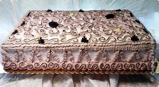 """Всем привет, кто заглянул.. Месяц был богат тортами для своих.. А свои уже мастики наелись так, что осваиваем крем потихоньку (бросайте в меня камни не сильно) Первый тортик был на день рождения свёкра.. Людей намечалось много... Вот и тортик такой... Не маленький Вес 9кг. Внутри """"тропиканка"""" (https://stranamasterov.ru/node/788418) фото 3"""