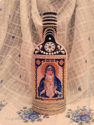 Бутылочка для святой воды в подарок Лизоньке на пасху.  фото 1