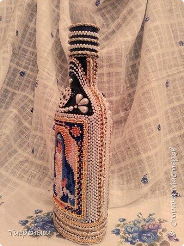 Бутылочка для святой воды в подарок Лизоньке на пасху.  фото 2