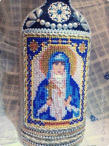 Бутылочка для святой воды в подарок Лизоньке на пасху.  фото 3