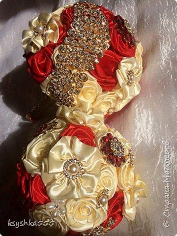 Свадебный брошь-букет фото 5
