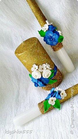 Очаровательный набор в бело-сине-золотой гамме  фото 6