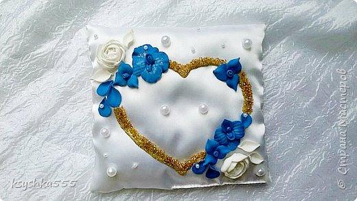Очаровательный набор в бело-сине-золотой гамме  фото 7