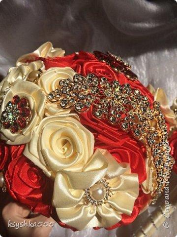 Свадебный брошь-букет фото 2