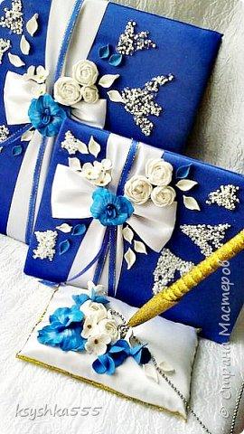 Очаровательный набор в бело-сине-золотой гамме  фото 3