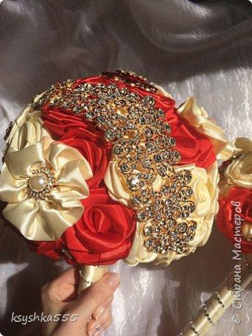Свадебный брошь-букет фото 1