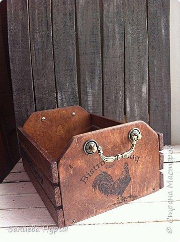 Здравствуй , Страна! продолжаю тему моих деревянных хотелок.  Очередной короб для чего угодно (лук, овощи, фрукты) фото 1