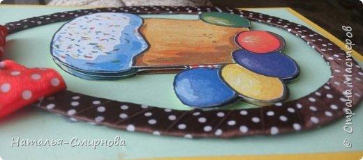"""Здравствуйте! Вот еще у меня """"сотворилось"""" несколько открыточек  к Пасхе! На этой открытке для кулича делала самодельный картон из салфетки (первый раз!), МК смотрела здесь http://stranamasterov.ru/node/152513?c=favorite фото 2"""
