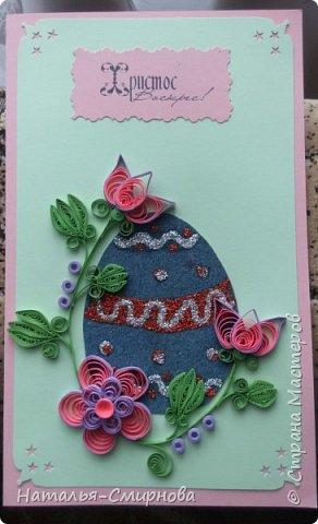 """Здравствуйте! Вот еще у меня """"сотворилось"""" несколько открыточек  к Пасхе! На этой открытке для кулича делала самодельный картон из салфетки (первый раз!), МК смотрела здесь http://stranamasterov.ru/node/152513?c=favorite фото 4"""
