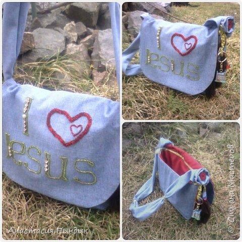 Джинсовая сумочька для дочьки фото 1