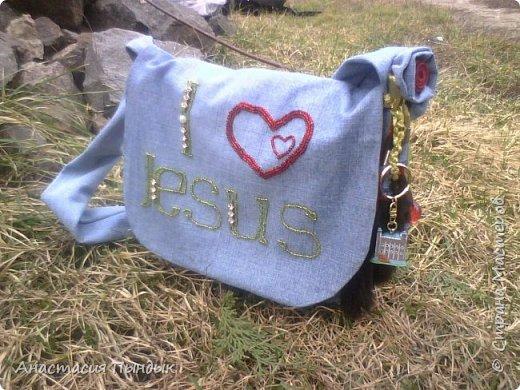 Джинсовая сумочька для дочьки фото 2