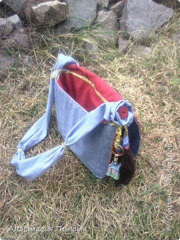 Джинсовая сумочька для дочьки фото 4