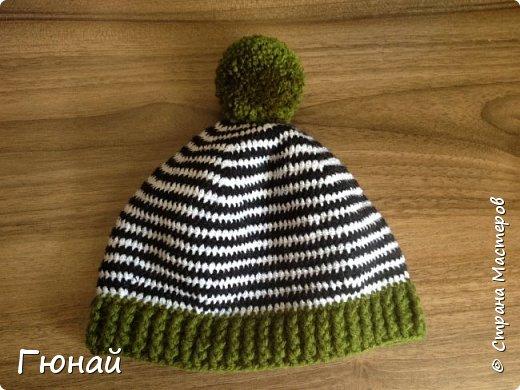Простая, но очень красивая шапка. Вязала для сына. Будем самыми стильными на осень ;) фото 1