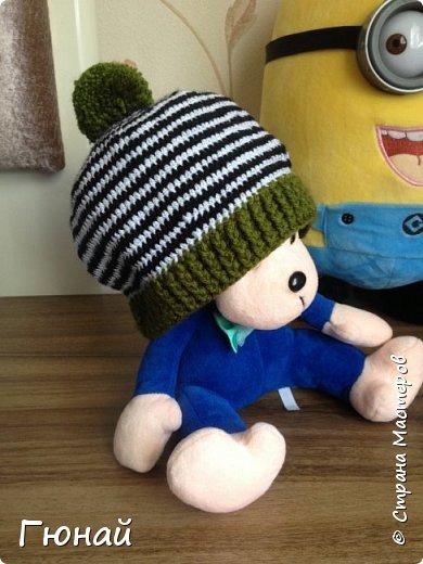 Простая, но очень красивая шапка. Вязала для сына. Будем самыми стильными на осень ;) фото 2