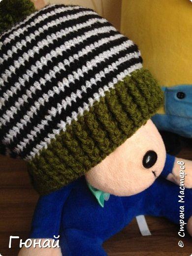 Простая, но очень красивая шапка. Вязала для сына. Будем самыми стильными на осень ;) фото 3