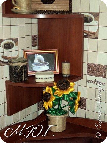 Решила скромно украсить свою кухню,так как я с мужем почитатели кофе,кухня придумалась сама собой)Много сделала сама,кое-что купила и ...вуаля! Вы почувствовали аромат?)))) фото 9