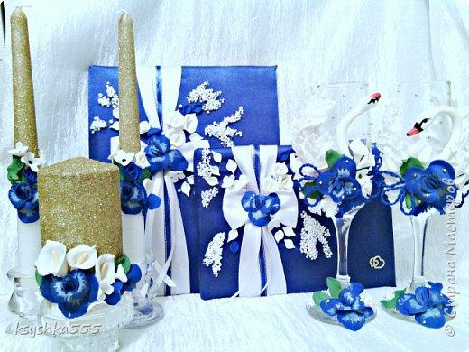 "Свадебный мини набор ""Синяя орхидея"" фото 3"