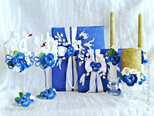 "Свадебный мини набор ""Синяя орхидея"" фото 1"