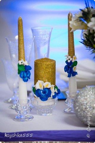 "Свадебный мини набор ""Синяя орхидея"" фото 4"