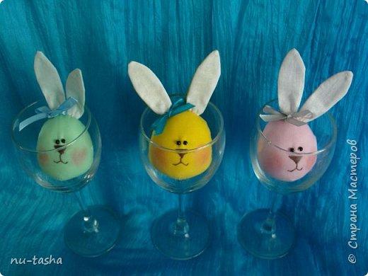 В ожидании Пасхи появилась вот такая яркая компания веселых ребят - яйцезайцев- для малышей в детский сад. А потом и элегантная тонкая Зая. фото 3