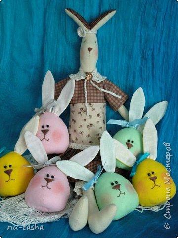 В ожидании Пасхи появилась вот такая яркая компания веселых ребят - яйцезайцев- для малышей в детский сад. А потом и элегантная тонкая Зая. фото 1