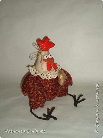 Вот такая Курочка с зотлотым яйцом у меня получилась по мк С.Рябоконь фото 2