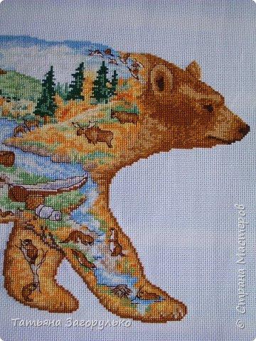 Зверушек своих я очень люблю и надеюсь, что этот процесс не закончен и со временем появятся варианты ))) Сначала отшился медведь - со всем вытекающим северным пейзажем - хозяин нашей тайги фото 3