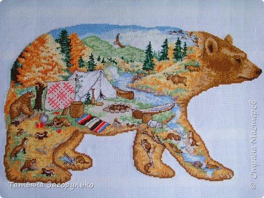 Зверушек своих я очень люблю и надеюсь, что этот процесс не закончен и со временем появятся варианты ))) Сначала отшился медведь - со всем вытекающим северным пейзажем - хозяин нашей тайги фото 4