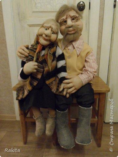 Здравствуйте жители СМ!!! Заказали мне двух кукол, деда и бабушку.Сделались быстро на одном дыхании, хоть и достаточно большие, высота  1 метр. фото 3
