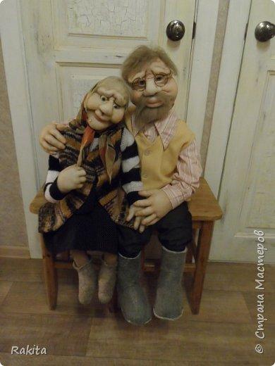 Здравствуйте жители СМ!!! Заказали мне двух кукол, деда и бабушку.Сделались быстро на одном дыхании, хоть и достаточно большие, высота  1 метр. фото 2
